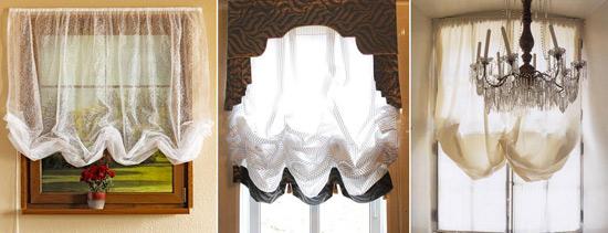 Легкие австрийские шторы