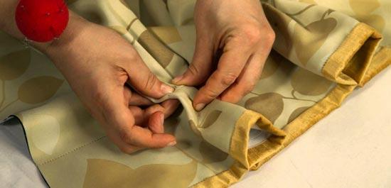 Приготовление к пошиву шторы своими руками