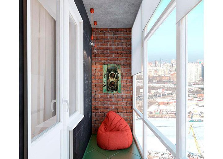 окна на балконе лофт