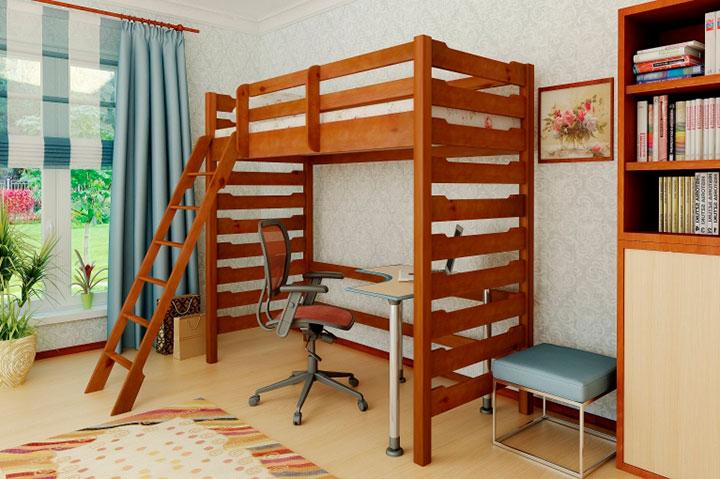 кровать в два уровня