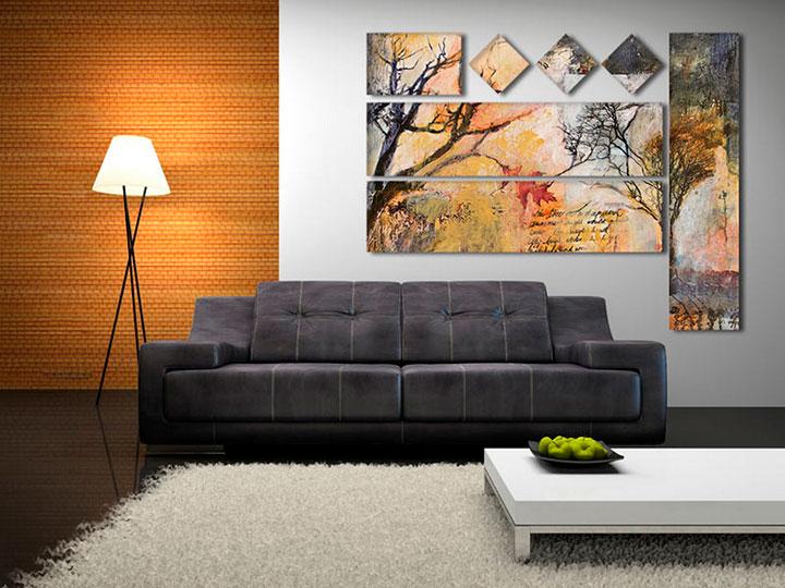 современные картины в гостиной