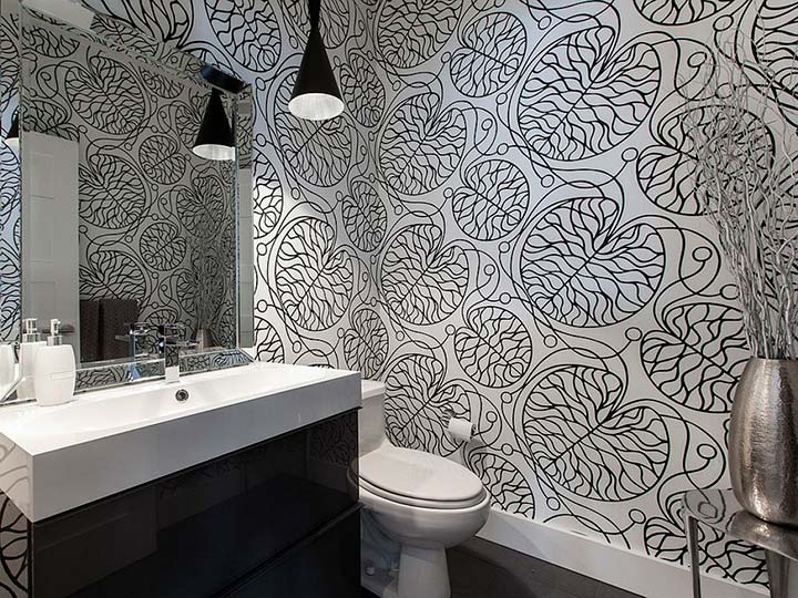 виды обоев для туалета