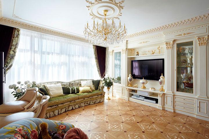 гостиная дома классицизм