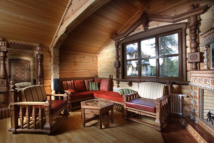 гостиная в рустикальном стиле