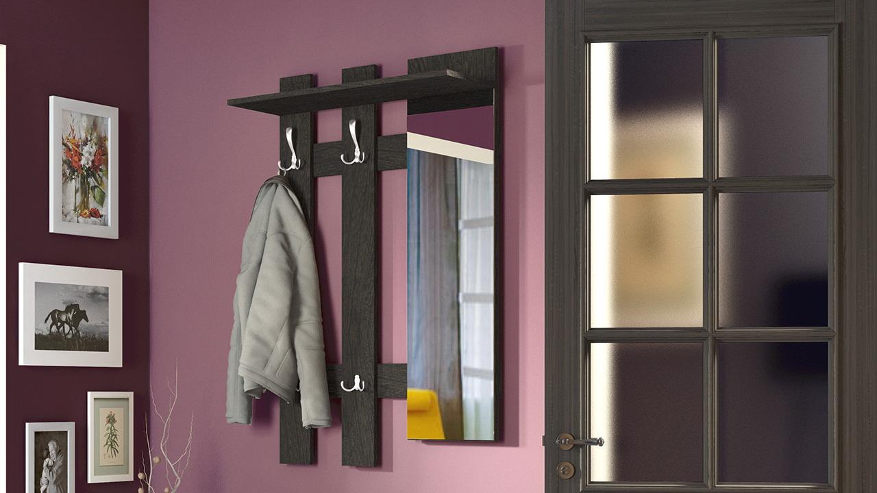 Вешалка и зеркало