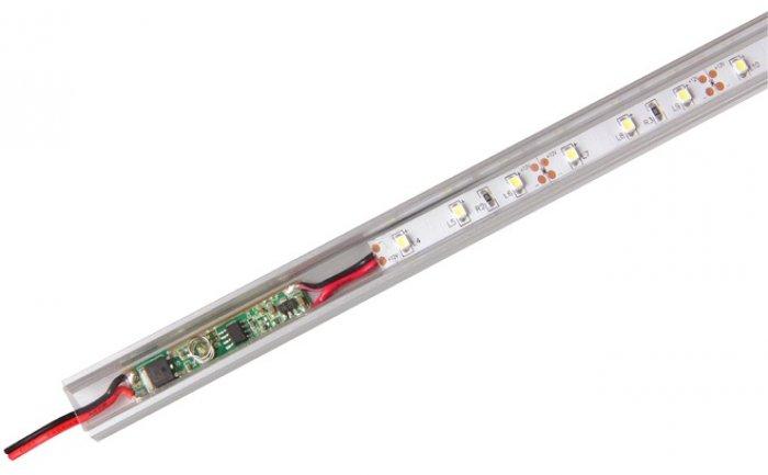 Выключение и включение осветительной системы будет обеспечиваться за счет сенсорного датчика