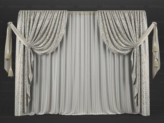 Для придания большей декоративности шторам используются подхваты.