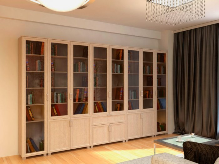 Закрытые шкафы защищают книги от загрязнения