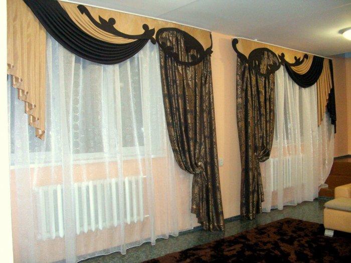 Ламбрекен применяется для декорирования верхней части штор или чтобы закрыть карниз.