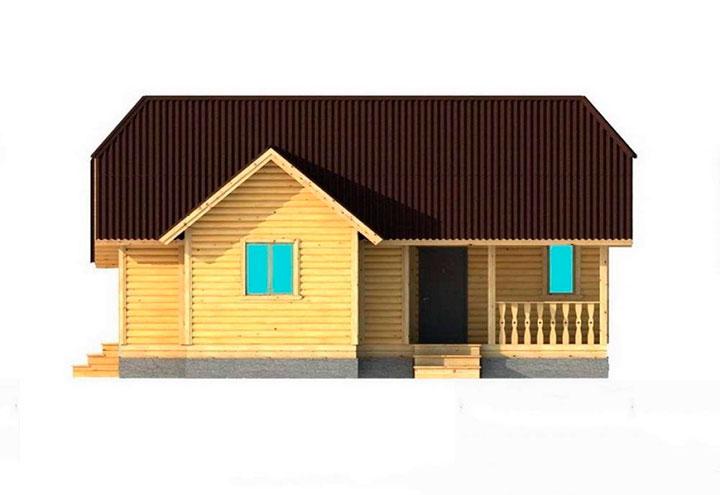 небольшой одноэтажный дом
