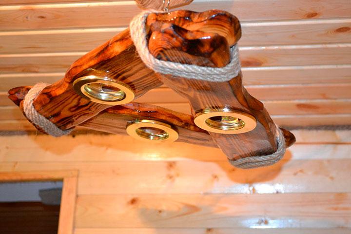 деревянная люстра своими руками