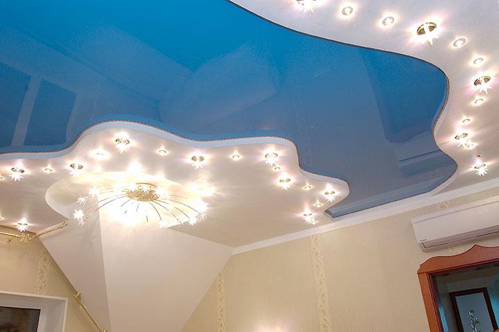 точечная подсветка на потолке
