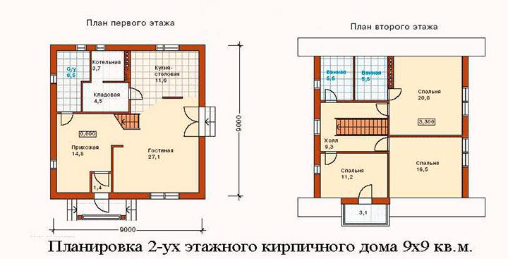 дом 9 на 9 метров