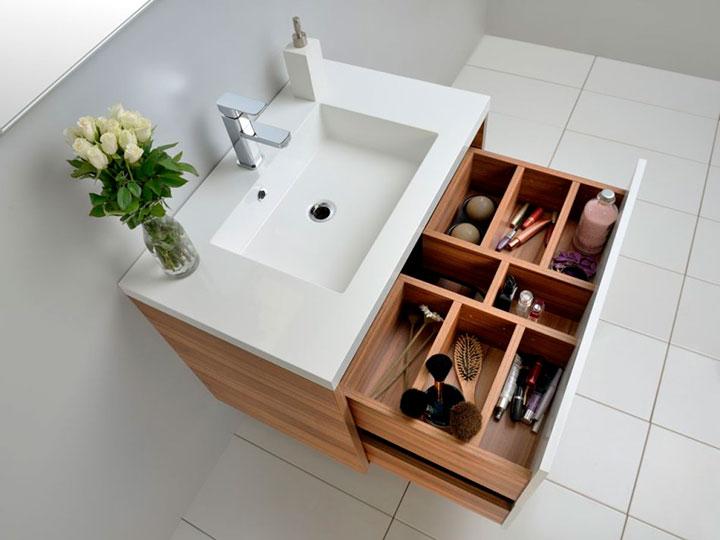 место для хранения в ванной