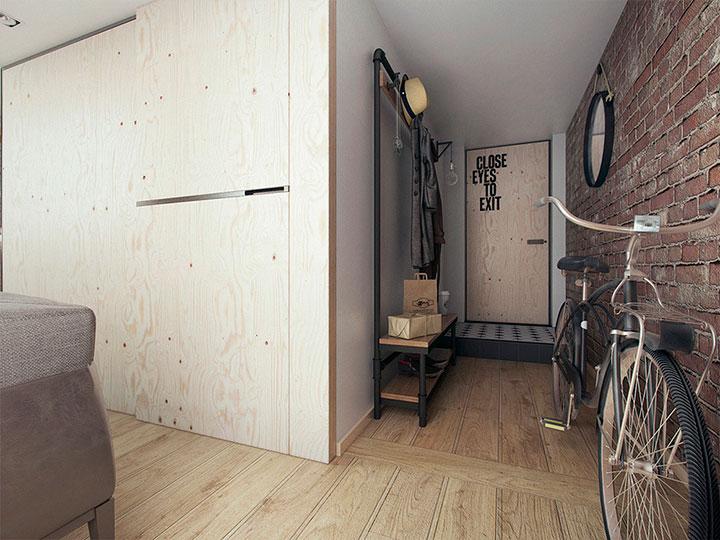 лофт-оформление прихожей в квартире