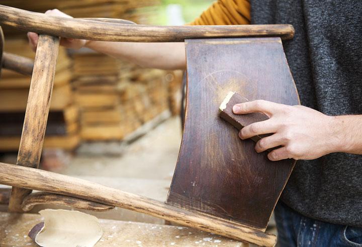 подготовка стула к реставрации