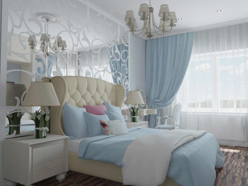 пастельная спальня