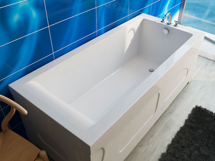прямоугольная литая ванна