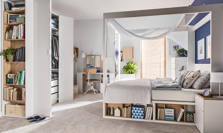 балдахин в современной спальне