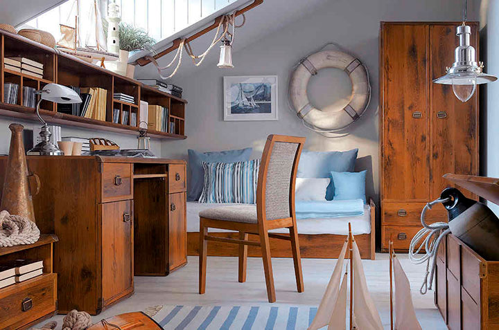 мебель для комнаты в морском стиле