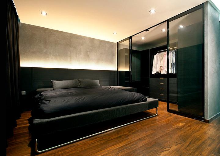 место для хранения в спальне