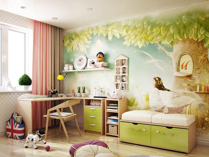 красивые обои для комнаты девочки