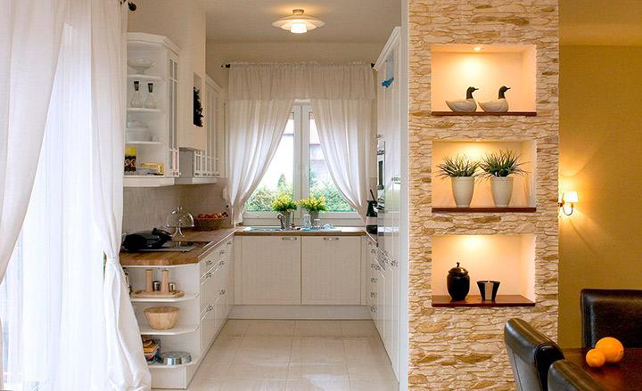 кухня-ниша в гостиной