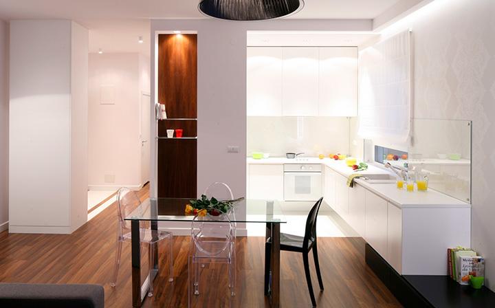 компактная кухня ниша