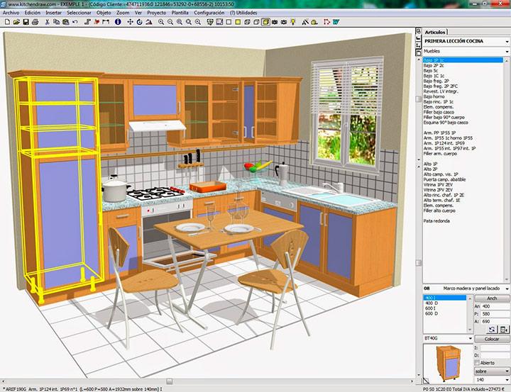 3д моделирование кухни