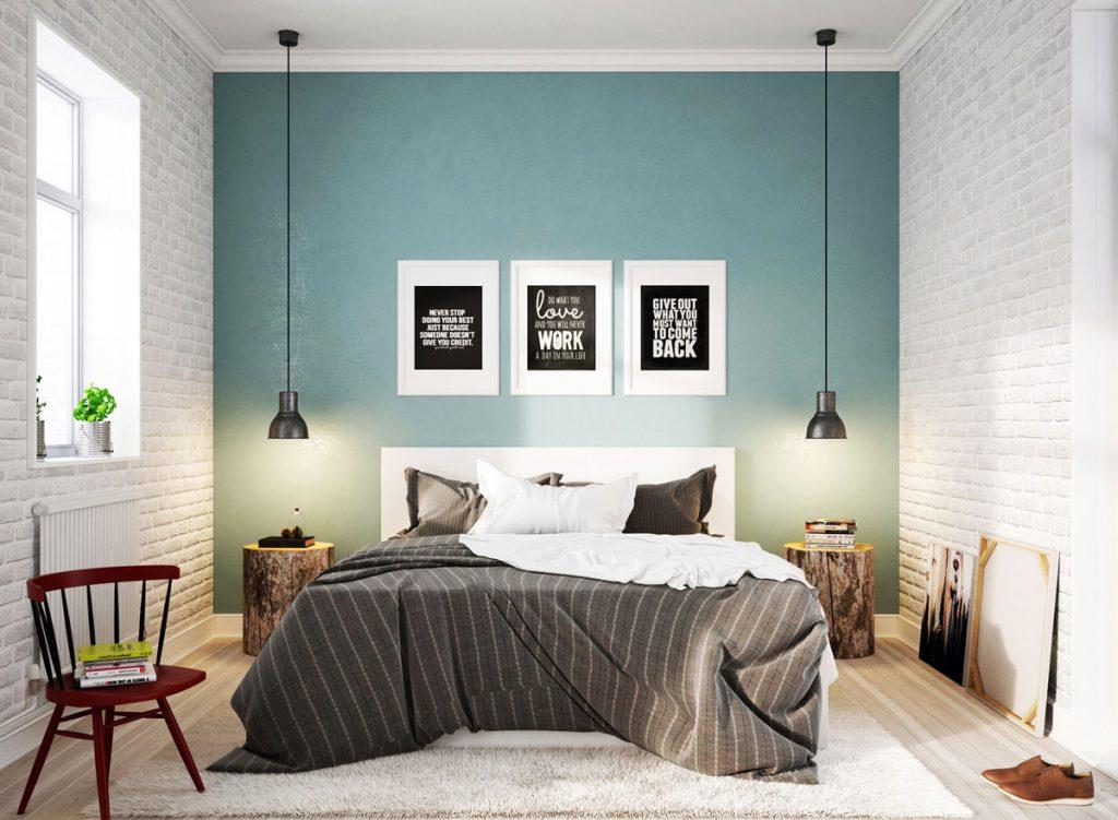 спальня по скандинавски