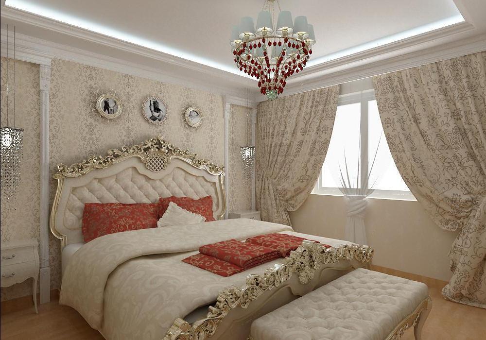 классический стиль в спальне