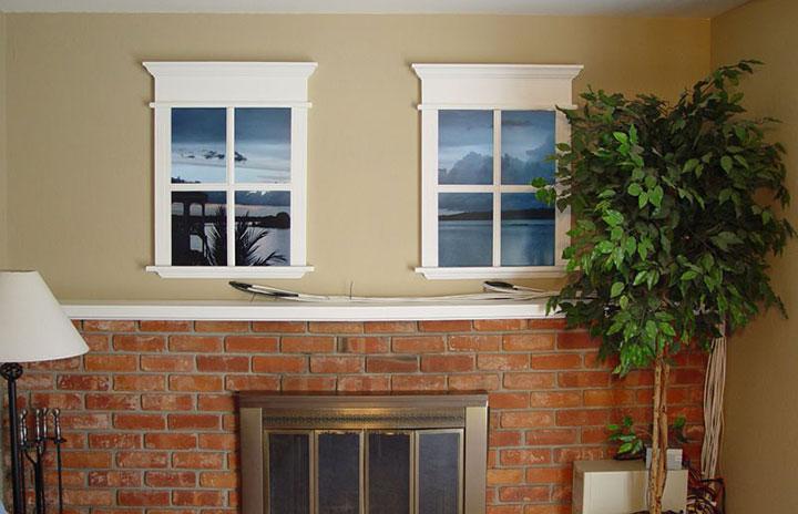 декоративное окно в гостиной