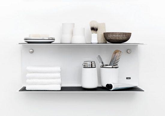 Полочки дополнят дизайн ванной